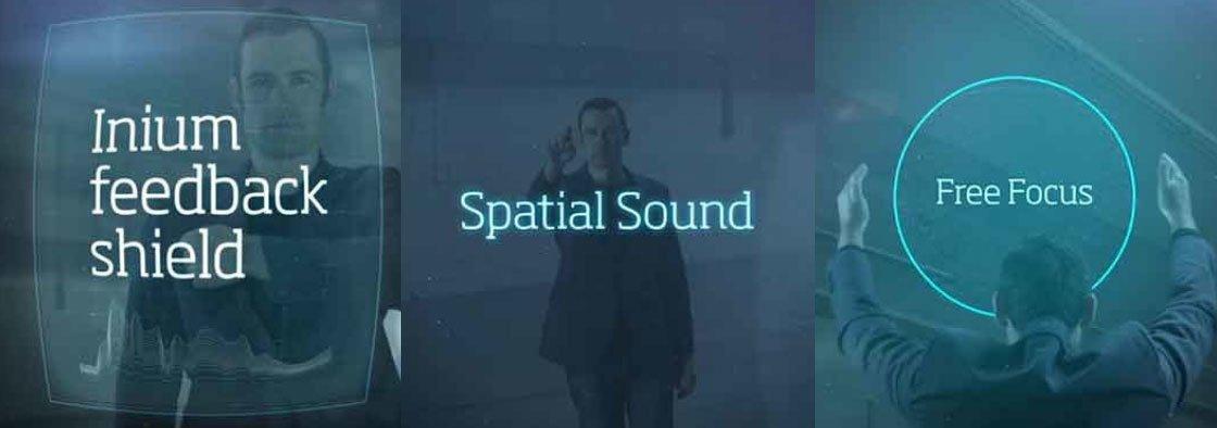 Oticon spatial sound, freefocus ve inium feedback Shield teknolojileri tanıtılmıştır.