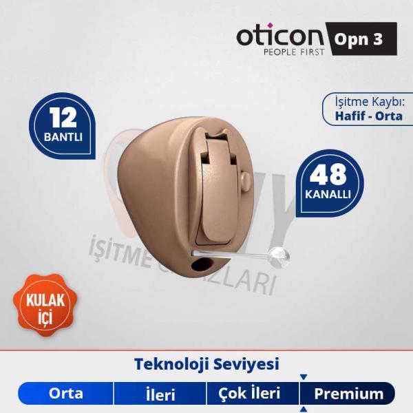 kulak içi işitme cihazı oticon opn 3