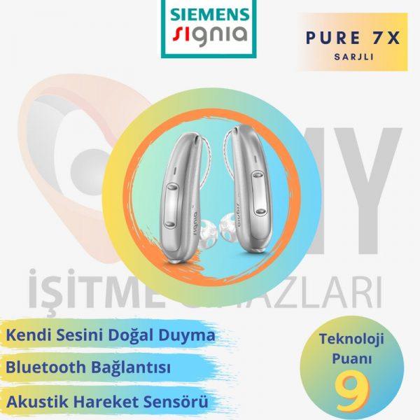 siemens signia pure 7x şarjlı işitme cihazı
