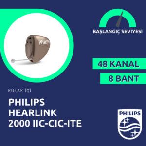 Philips Hearlink 2000 kulak içi görünmeyen işitme cihazı fiyatı emy isitme