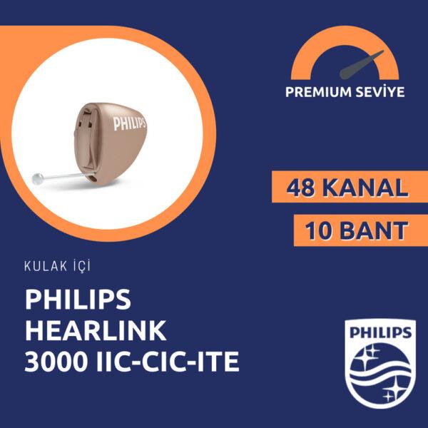 Philips Hearlink 3000 kulak içi görünmeyen işitme cihazı fiyatı emy isitme