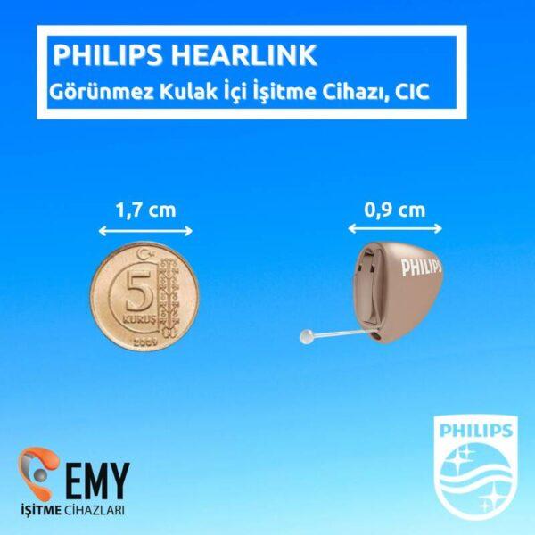 philips hearlink kulak içi görünmeyen işitme cihazı modelleri fiyatları özellikleri