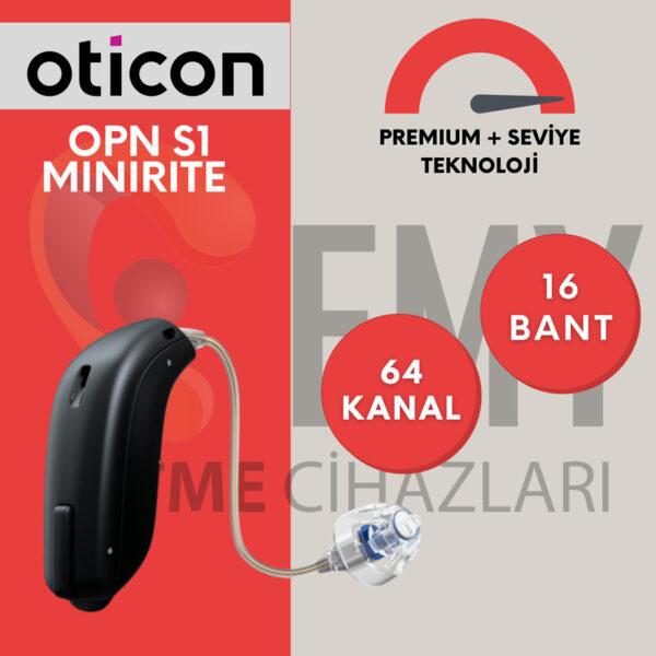 Oticon opn S1 miniRITE emy işitme fiyatı özellikleri