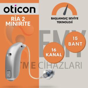 Oticon ria 2 minirite uygun fiyatlı işitme cihazı emy işitme
